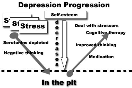 progression of depression A family history of depression or bipolar disorder is a significant risk factor for depression in a child or young adult depression may — and frequently does — occur when no member of a family has knowingly experienced a severe mental disorder.
