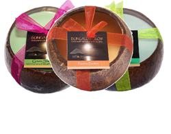 Coconut Shell Soy Candles.